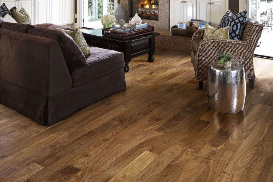 Engineered Walnut Lacquered Wood Flooring - 14mm x 3mm X 150mm
