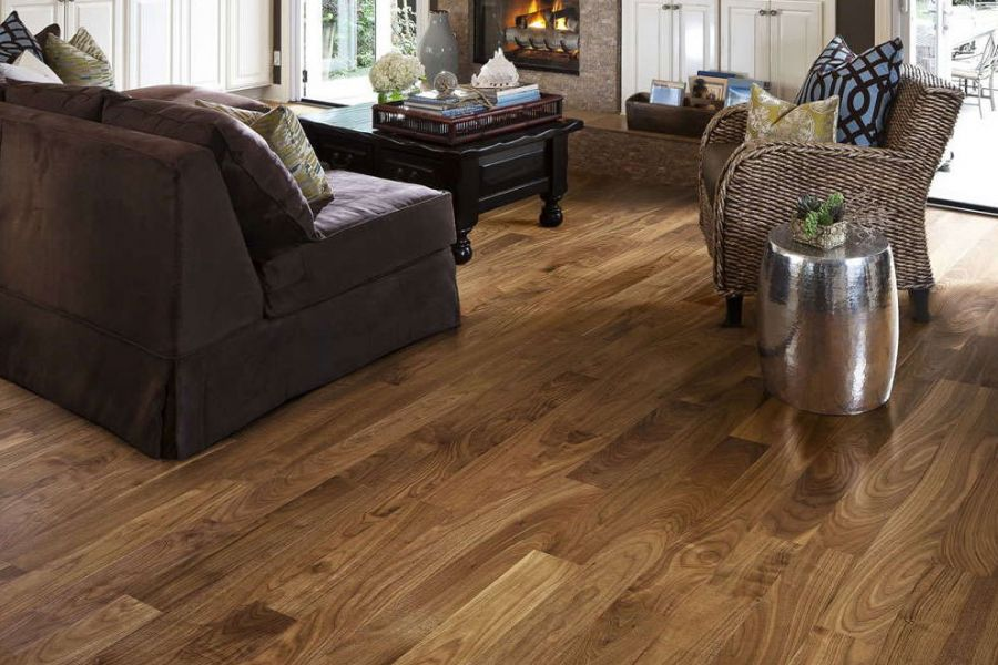 Engineered Walnut Lacquered Wood Flooring - 18mm x 4mm X 191mm