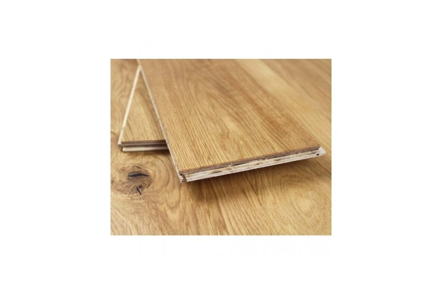 Engineered Oak Brushed & UV Oiled AB Wood Flooring - Click - 14mm x 3mm X 127mm