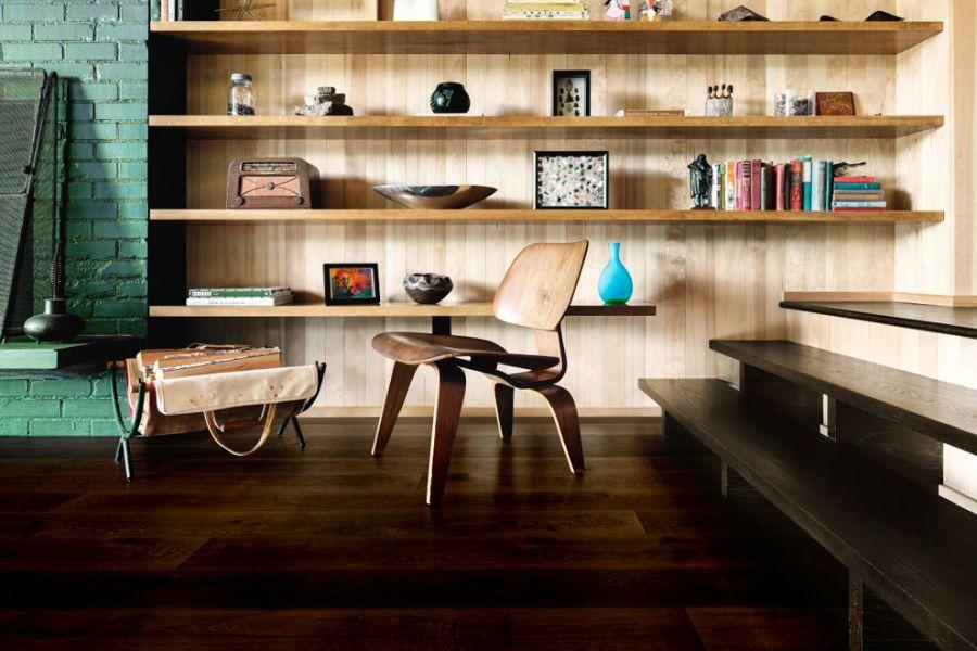 Engineered Oak Dark Coffee Lacquered Wood Flooring - 15mm x 4mm X 190mm