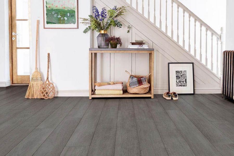 Engineered Oak Premium Dark Grey Wood Flooring - 15mm x 4mm X 190mm
