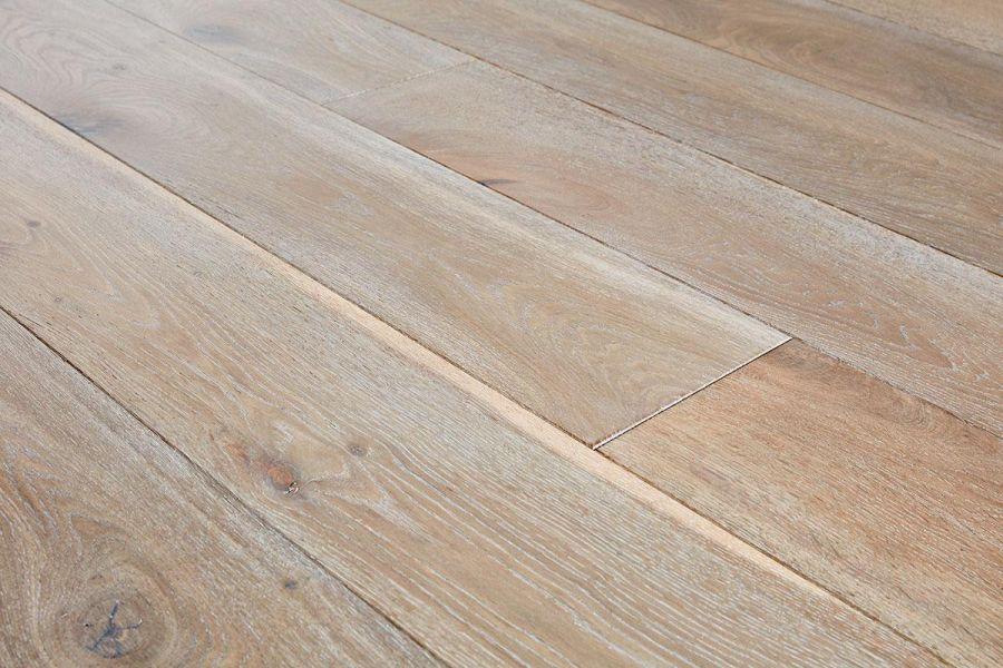 Engineered Oak Stoney Grey Oiled Wood Flooring - 15mm x 4mm x 190mm