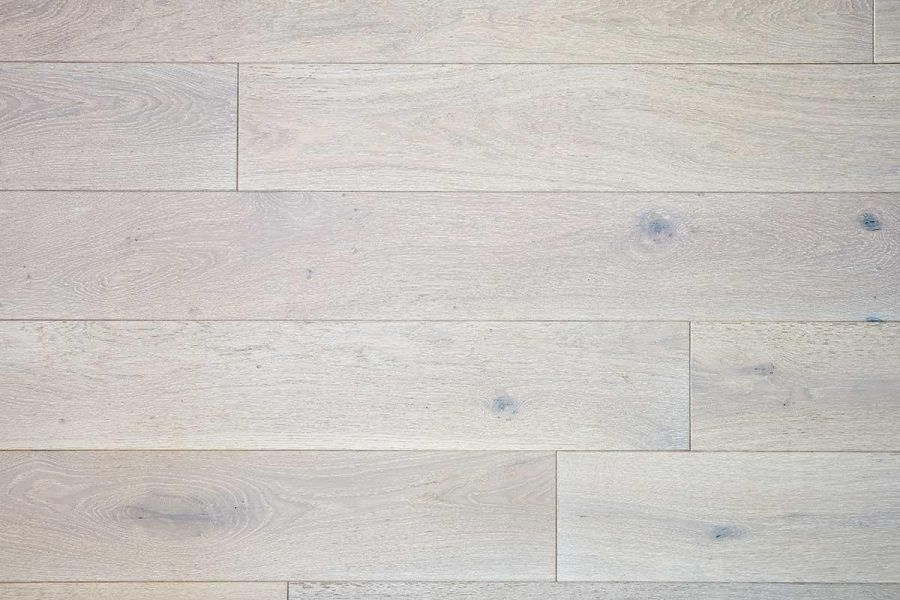 Engineered Oak Lavender Pure Whitewash Lacquered Wood Flooring - 15mm x 4mm x 190mm
