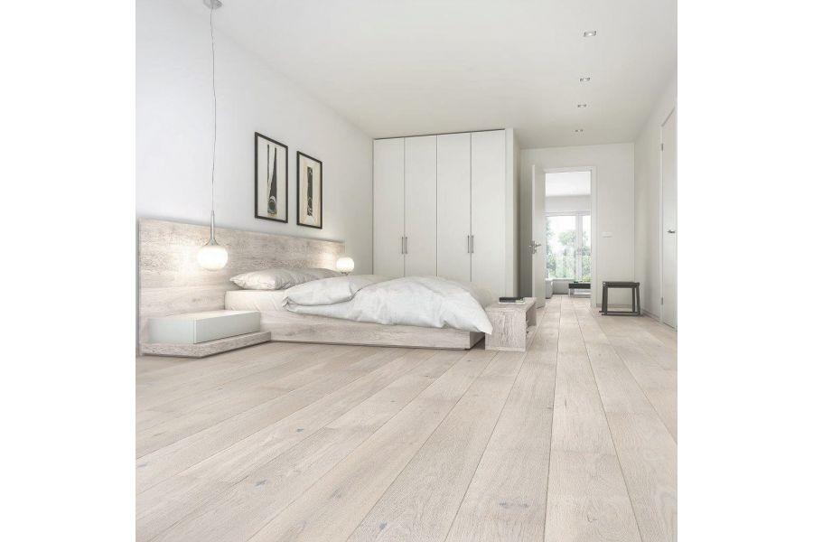 Engineered Oak Light Clay Grey Oiled Wood Flooring - 14mm x 3mm X 189mm