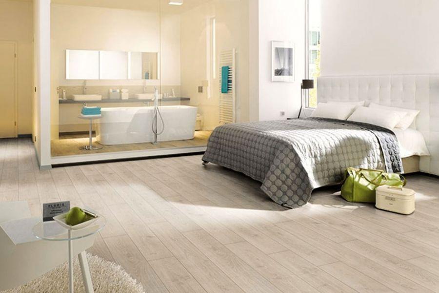 Engineered Oak Whitewash Scandinavian White Wood Flooring - 15mm x 4mm x 190mm